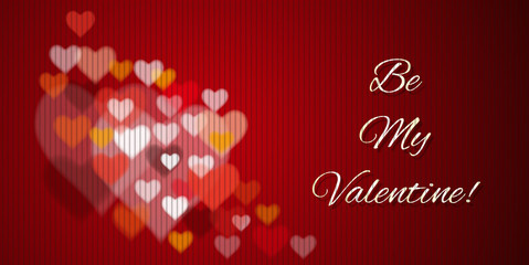 Be My Valentine - greeting card