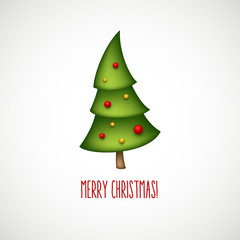 Funny christmas trees. Vector illustration