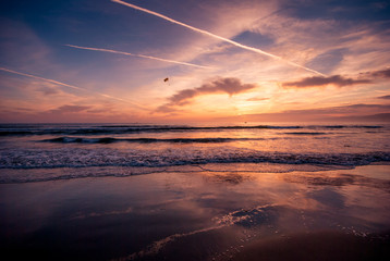 Venice Beach, Los Angeles California.Summer travel, vacation, must see, scenic drives and sunset concept