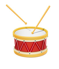 Drum. Music instrument. Eps10 vector illustration. Isolated on