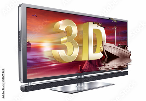 3d hd tv fernseher freigestellt stockfotos und. Black Bedroom Furniture Sets. Home Design Ideas