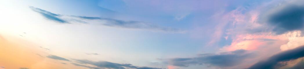 Beautiful twilight sky and cloud - Panorama Effect