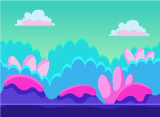 Photo sur Plexiglas Turquoise Game Background Vector Illustration Set