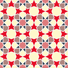 Arabesque pattern. Vector seamless traditional east design.