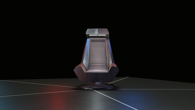 Space Throne, ready for comp of your characters.3d rendering