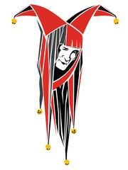 Vector illustration. Abstract clown face.