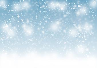 Schneeflocken in blau