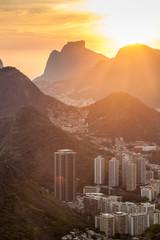 Sunset over Rio de Janeiro, Brazil. Taken from Sugarloaf mountain.