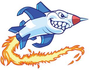 Rocket Mascot Vector Cartoon Illustration