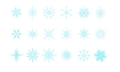 Set of 18 Snowflakes