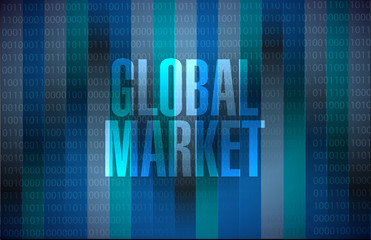 global market binary sign concept