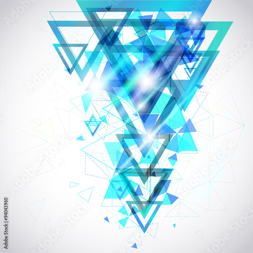 """""""Abstract background hexagon triangle geometric polygon"""