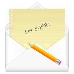 envelope sorry