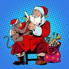 santa claus monkey symbol new year 2016