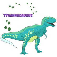 Cartoon dinosaur vector illustration