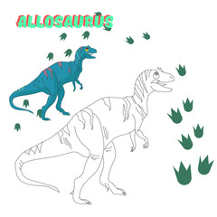 Educational game connect the dots to draw dinosaur