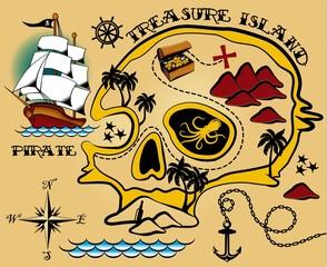 Pirate map pattern