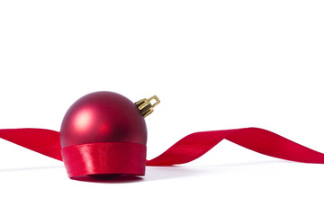 Christmas ball and Ribbons