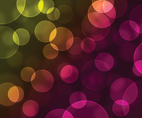 Abstract bokeh yellow and pink background