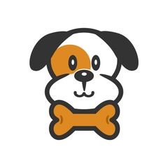 Simple Cute Dog Logo Image