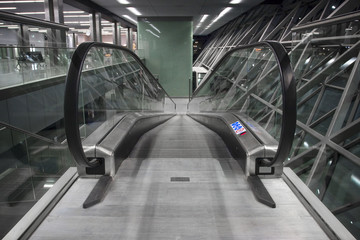 Escalator at Cracow airport