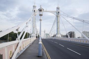 Albert Bridge and Lamppost, Chelsea; London