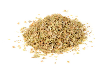 Dried Oregano Herb Isolated on White Background