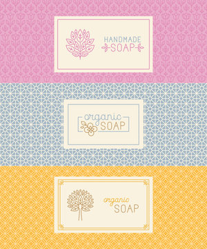 Soap packaging and wrapping paper