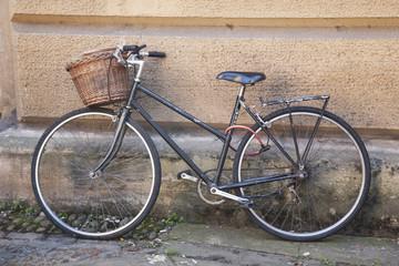 Old Black Bike in Streets of Cambridge