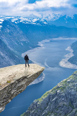 View On Norway Mountain Landscape From Trolltunga