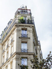 PARIS, FRANCE, on AUGUST 31, 2015. Architectural details of typical buildings