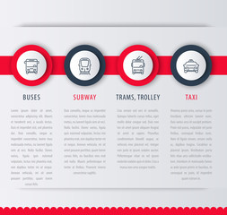 City transport, infographic elements, icons, vector illustration