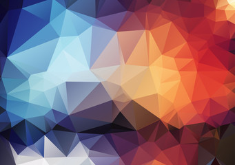colorful pattern of angular geometric shapes Wall mural