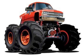 Printed roller blinds Fast cars Cartoon Monster Truck