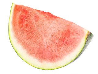sliced watermelon isolated on a white background