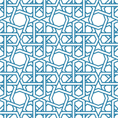 Islamic pattern vector. Seamless traditional eastern style.