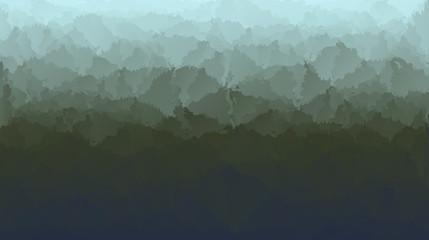 Abstract dark green forest background
