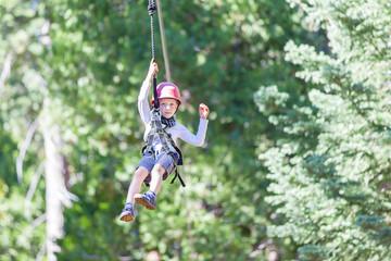 kid ziplining