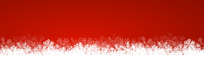 Wall Mural - Red Christmas Background Texture Panorama