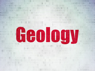 Science concept: Geology on Digital Paper background