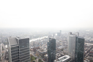 frankfurt germany skyscrapers with white background