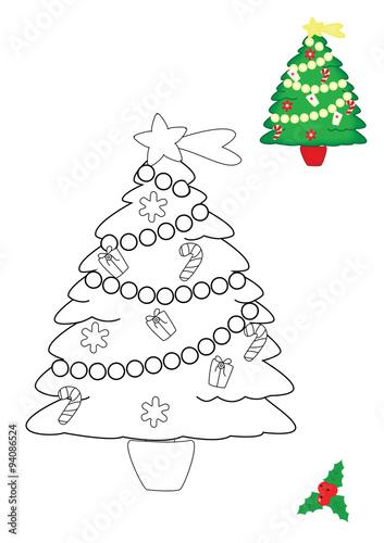 Pagina Da Colorare Albero Di Natale Stock Photo And Royalty Free