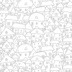 City sketch, seamless pattern for your design
