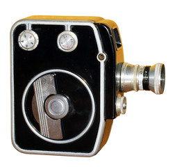 Old antique camera isolation. / Image of an old antique camera  isolation.
