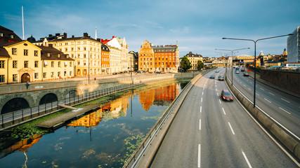 Embankment In Stockholm At Summer Day, Sweden
