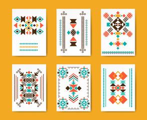 Geometric hipster tribal triangular flyers