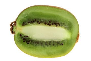 Ripe fruits of a kiwi on a white background