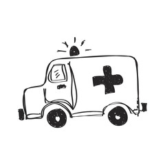 Simple doodle of an ambulance