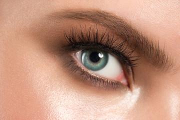 Eye makeup closeup
