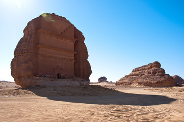 tombs in Saudi desert near Al-Ula
